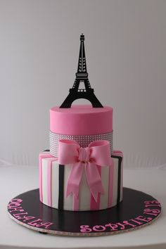 Paris Themed birthday cake for a 13-year-old girl Thanks for pinning and liking my cake! Diana