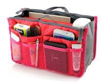 Multifunction Storage Bag, Tidy Bag, Insert Purse, Organizer Bag in Red