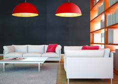 Modern lamps hemispheres: any RAL color. Sizes of diameter: 50, 70, 90, 120, 150, 200cm