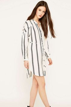 Sparkle   Fade Tie Waist Striped Dress - Urban Outfitters Casual Jumpsuit 0240808b5b0