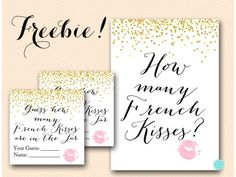 graphic regarding Guess How Many Kisses for the Soon to Be Mrs Free Printable named 217 Excellent No cost Bridal Shower Printables illustrations or photos inside 2019