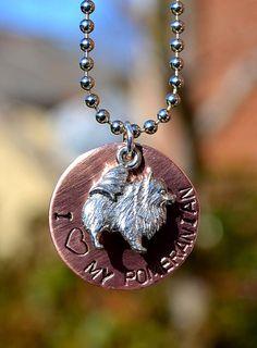 I <3 my Pomeranian necklace