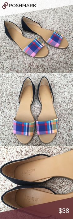 Authentic J Crew Sandals Authentic! Beautiful J Crew sandals/flat shoes 💕 Size 10. Never used and in excellent, like new condition. NO TRADE ❌ J. Crew Shoes