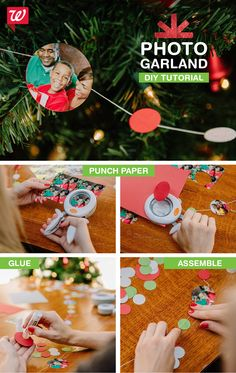 Deck out your tree or mantle this year with a festive holiday photo garland! Print your photos using our mobile app. Get the DIY tutorial on our Smile blog.