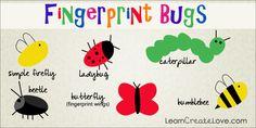 { Printable Mason Jar Craft w/ Fingerprint Bugs }