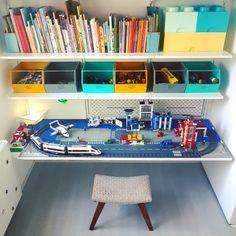 living room ideas – New Ideas Lego Table Ikea, Lego Desk, Lego Room, Lego Station, Little Boys Rooms, Skins Minecraft, Lego City, Kids Room Wall Art, Black Decor