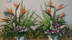 Bird paradise arrangement