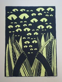 Eyes In The Jungle Print by spagecko on Etsy