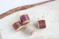 Soviet Vintage Thread Spools  set of 4  Purple by theMomsAttic, $8.00