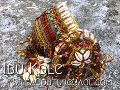 Igba Osayin Oshun Ibu Kole For inquires, please send an email to OrisaCouture@aol.com #igba #osayin #osanyin #osain #oshun #osun #olosun #iyalode #ibukole #orisa #orisha #lukumi #santeria #yoruba #diaspora #orisacouture