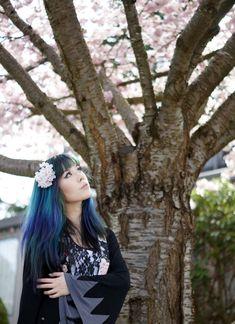 Celebrating sakura season (cherry blossom festival) in Japan! See more of  La Carmina's fashion shoot with pink, blossoming trees at http://www.lacarmina.com/blog/2014/04/japan-sakura-cherry-blossoms-fashion-hanami/  cherry blossom trees