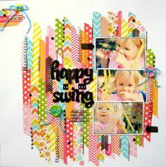 Happy in the Swing - Scrapbook.com