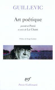 Art poétique précédé de Paroi suivi de Le Chant - Poésie/Gallimard - GALLIMARD - Site Gallimard