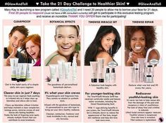 Taking care of your skin is really important! Even if your face is baby soft and smooth right now, it won't be as you get older, and anti-aging is all about prevention. Even getting rid of acne and breakouts can be about prevention. Caring for your skin is knowing your skin type and using the right products to compliment your complexion. Mary Kay has a skin care regimen to meet your needs. Join me for a Mary Kay  Glow and Tell Challenge!
