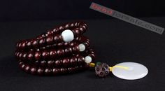 original 108pcs lobular red sandalwood barrel beads bracelet