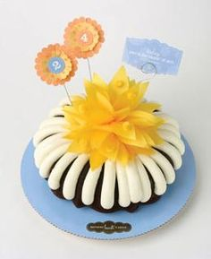 Today Youre The Center Of Attention Cake Nothing Bundt Cakes Birthday Celebration Happy