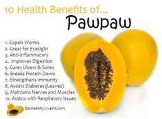 pawpaw nutrients and benefits - Google Search