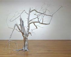 Metal Tree sculptures