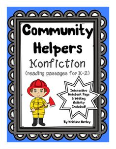 Community Helpers - Nonfiction Reading Passages:Use this resource to teach your students aboutcommunity helpers and practice nonfiction readingskills. The passages are short, simple, and containa picture of the community helper. What is included:- Nonfiction Reading Passages:There are 12 reading passages.