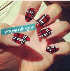 My tartan nails :)