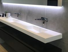 Small Bathroom With Shower, Master Bathroom, Cb 750 Cafe Racer, Shower Surround, Solid Surface, Bathroom Inspiration, Sink, New Homes, House