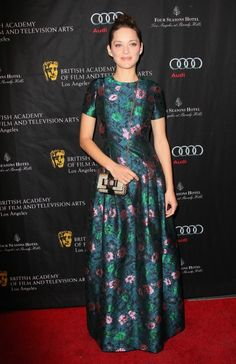 Marion Cotillard - BAFTA Los Angeles 2013 Awards Season Tea Party #flowerfashion