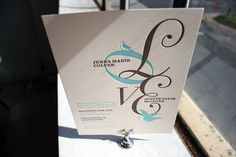 Lovebirds Letterpress Wedding Invitations, via Flickr. Letterpress Wedding Invitations, Love Birds, Place Card Holders, Learning, Words, Lp, Pretty, Vintage, Studying