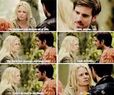"Emma and Hook - 5 * 1 ""Dark Swan"" #CaptainSwan"