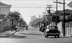 Setembro de 1957 - Rua Estados Unidos no bairro de Jardim América.