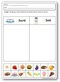The 5 senses of taste in kindergarten, project, activities and games on taste French Teacher, Teaching French, Kindergarten Projects, In Kindergarten, Autism Education, French Classroom, Free To Use Images, French Immersion, French Lessons