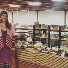 Yesterday so much fun that I decided to stick around for day two of the UWA Bazaar at Pioneer Park. I'll be here on the third floor till 4 today - come by and see me!  by morelpottery