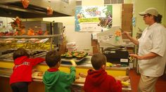 Students select healthy options in Hagerstown, MD.