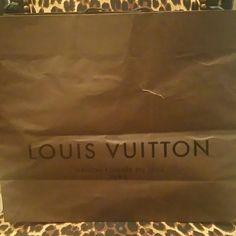 Authentic Louis Vuitton Shopping Bag Large Authentic.  Slight tear (see photo) Louis Vuitton Bags