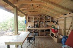 Kitchen shelter at Rabbit Island. Dr. Rob seems like a pretty cool fella.