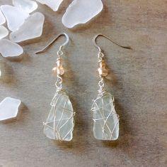 My favorite jewelry at Pandora - Fine Jewelry Ideas Sea Glass Jewelry, Crystal Jewelry, Wire Jewelry, Pendant Jewelry, Jewelry Crafts, Jewlery, Silver Jewelry, Rustic Jewelry, Bohemian Jewelry