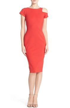 Chiara Boni La Petite Robe Asymmetrical Jersey Sheath Dress