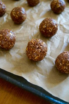 Healthy energy bites packed full of chocolate peanut butter goodness. Naturally sugared and great for a tasty snack! They will super charge you through a long day!