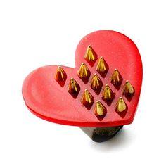 "CRMC X Magpie Till I Die ""Spiked Heart"" Ring available at www.crmc-clothing.co.uk   WE SHIP WORLDWIDE #love #tough #toughlove #knuckleduster #heart #badass #alternative #alt #alternativegirl #alternativeteen #altgirl #tattoo #tattooed #alternativefashion #alternativestyle #alternativejewellery #jewellery #jewelry #handmade #diy #handmadejewelry"