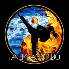 Girls Taekwondo Tee - Brilliant Fire Water Oppositon! / Taekwondo Martial Art Tee Shirt