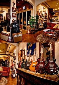 Learn how to play the guitar with these easy to understand guidelines. Playing a guitar is simple to master, and might open countless musical doors. Guitar Store, Music Store, Guitar Room, Guitar Art, Guitar Display, Coffee Music, Music Studio Room, Recording Studio Home, Purple Wallpaper Iphone