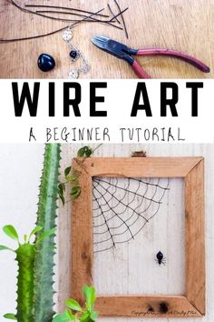If you're looking for a beginner wire art tutorial, you'll love this easy step-by-step lesson that shows you how to make Matilda the spider and her web. #wireart #DIYTutorial #spiderwebcrafts #ACraftyMix #EasyWireArt Nature Crafts, Fall Crafts, Diy And Crafts, Holiday Crafts, Repurposed Items, Upcycled Crafts, Sewing Crafts, Barn Wood Picture Frames, Wire Art