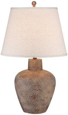 Bentley Brown Leaf Hammered Pot Table Lamp Universal Lighting and Decor http://www.amazon.com/dp/B00DOYDJX4/ref=cm_sw_r_pi_dp_-jDfvb03JRNFJ