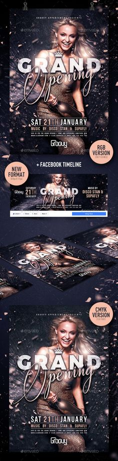 Grand Opening Party Free Club Psd Flyer Template  Download Free