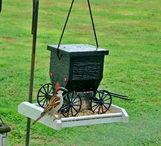 Bird feeder made by the Amish