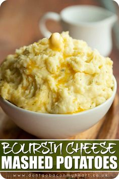 If you've never put Boursin cheese in your mashed potatoes you haven't quite lived. These mashed potatoes are ultra creamy and bursting with flavour! #mashedpotato #potato #boursin #sides #sidedish | www.dontgobaconmyheart.co.uk Potato Dishes, Vegetable Side Dishes, Food Dishes, Chicken Mashed Potatoes, Creamy Mashed Potatoes, Boursin Cheese, Vegetarian Recipes, Cooking Recipes, Cheesy Recipes