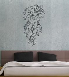 Dreamcatcher Dream Catcher Feathers Housewares Wall Vinyl Decal Art Design Bedroom Interior Mural Decor Sticker Removable Room Window SV2519