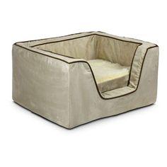 Snoozer Luxury Square Dog Bed with Memory Foam Buckskin/Java - 22375, ODI071-86