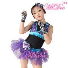 Sporty Vest Glitter Jazz Dance Costume Ballet Tutu Dress Ballroom Dancing Dress For Girls
