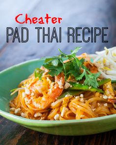 {recipe + video} 15 minute meal! Cheater Pad Thai recipe, make it tonight! http://www.steamykitchen.com/31889-cheater-pad-thai-recipe-video.html #recipe #padthai #cheater
