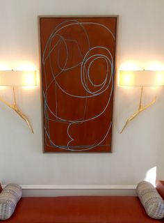 Installed painting by Susan Blackmon Www.sblackmonart.com Gouache, Abstract Art, Tapestry, Ink, Painting, Home Decor, Hanging Tapestry, Tapestries, Decoration Home